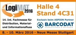 ASPION G-Log präsentiert von BARCODAT auf der LogiMAT 2016