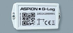 Transportueberwachung bei Erschuetterungen mit dem ASPION G-Log Schocksensor - kabellos mit NFC.