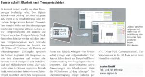 Presseberichte über ASPION - Transportüberwachung