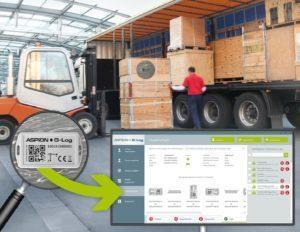 ASPION G-Log Schocküberwachung für Transporte mit Lage-Visualisierung - RGB-Format