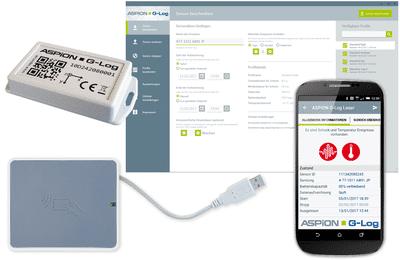 ASPION G-Log - Komponenten für die Transportüberwachung mit dem Schocksensor