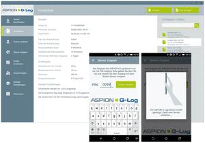 ASPION G-Log in Version 2.1: Ein Sensor kann jetzt per App und PIN gestoppt werden, Übersicht liefert jederzeit die neue Einsatzliste.