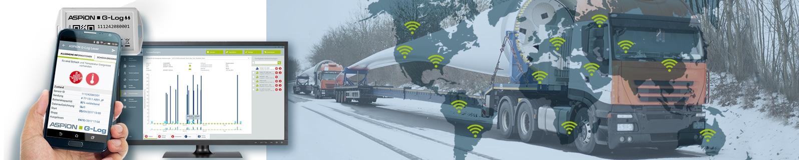 Transportüberwachung mit ASPION G-Log Schocksensoren als Datenlogger