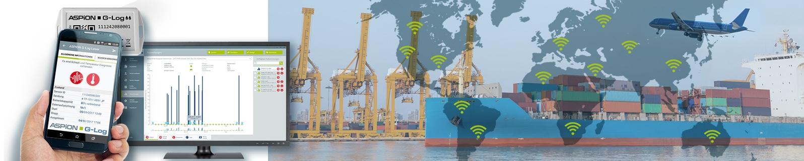 Cloudbasierter Dienst liefert Auswertungen der ASPION Sensoren zur Transportüberwachung