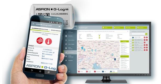 Clouddienst ASPION G-Log Premium mit Ortungsinformation
