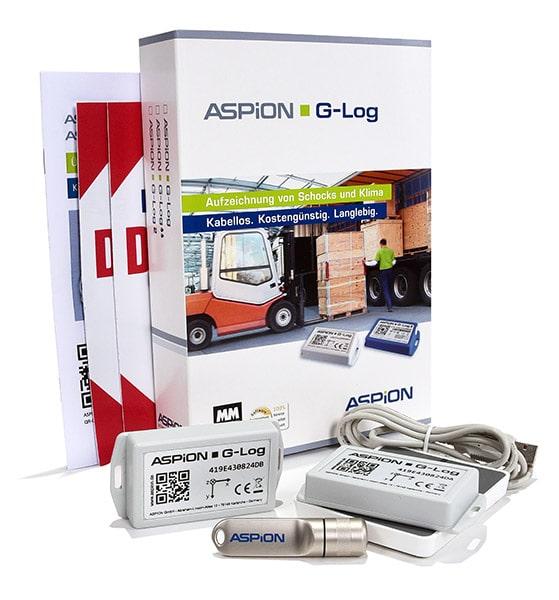 Transparenz bei Transportschäden mit dem ASPION G-Log Schocksensor - jetzt testen!