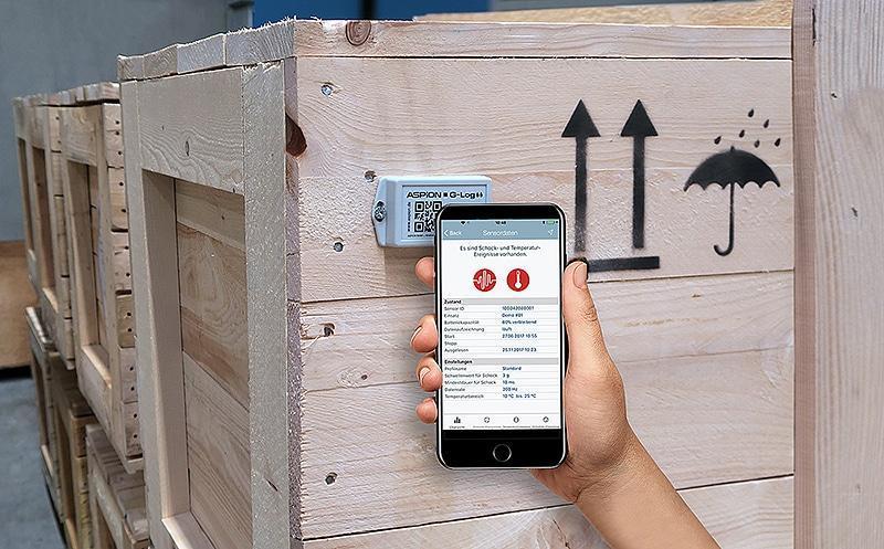 Alle ASPION Schocksensoren sind ueber NFC jetzt auch zusätzlich mit der iOS App auslesbar.