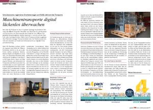Uhlmann Pac setzt ASPION G-Log Schocksensoren ein - Anwenderbericht in FM, das Logistikmagazin