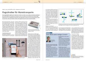 """Bericht in Polyscope 1-2/2019: ASPION G-Log Transportueberwachung """"Flugschreiber für Warentransporte"""""""