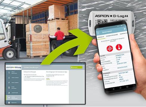 Transportüberwachung Aspion G-Log: Funktionen Schocküberwachung