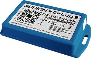 Transportueberwachung kostengünstig mit ASPION G-Log 2 Datenlogger - für Schock, Temperatur und Feuchtigkeit