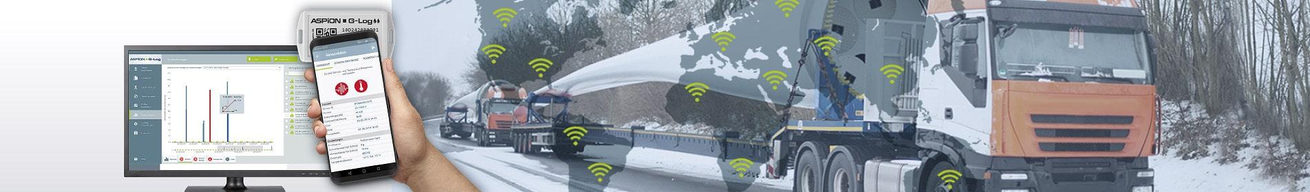 Transportüberwachung mit Datenlogger von ASPION - kostengünstig und kabellos