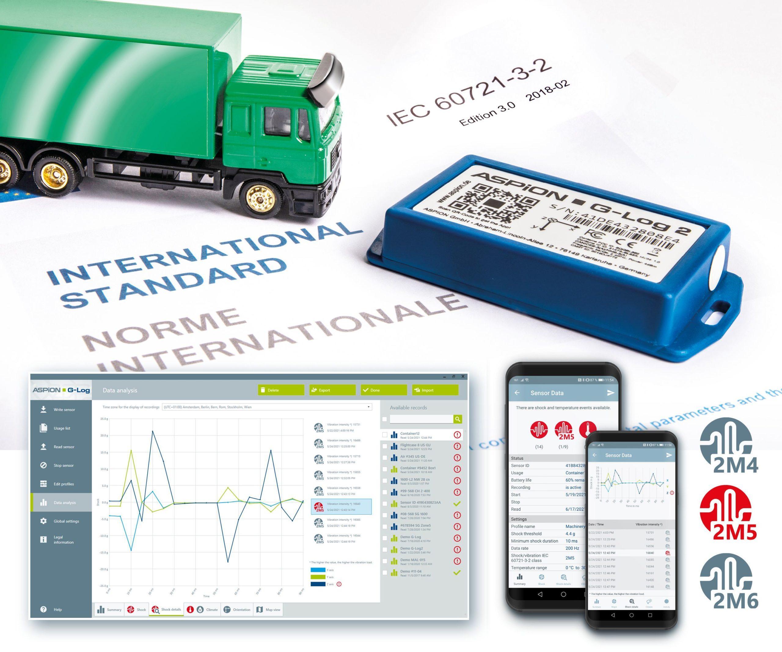ASPION data logger monitors transport standard